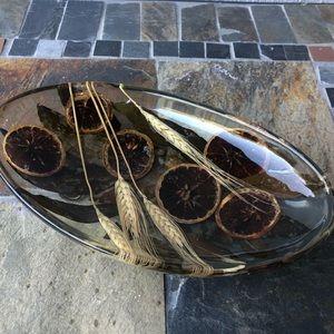 riccardo Marzi Accents - riccardo Marzi Footed Acrylic Centerpiece Bowl